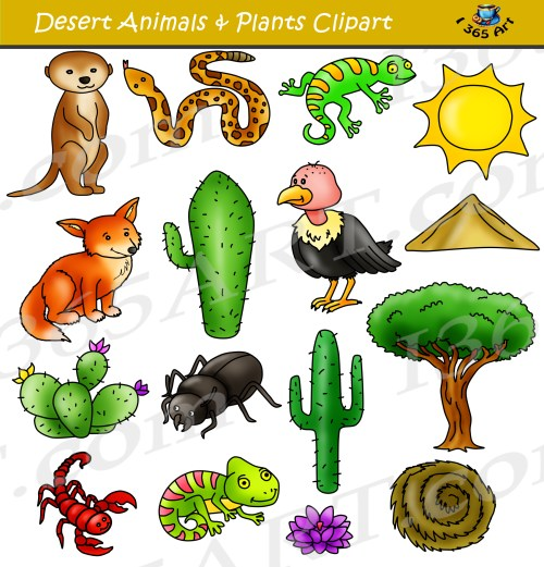 small resolution of desert clipart set desert animals terrain