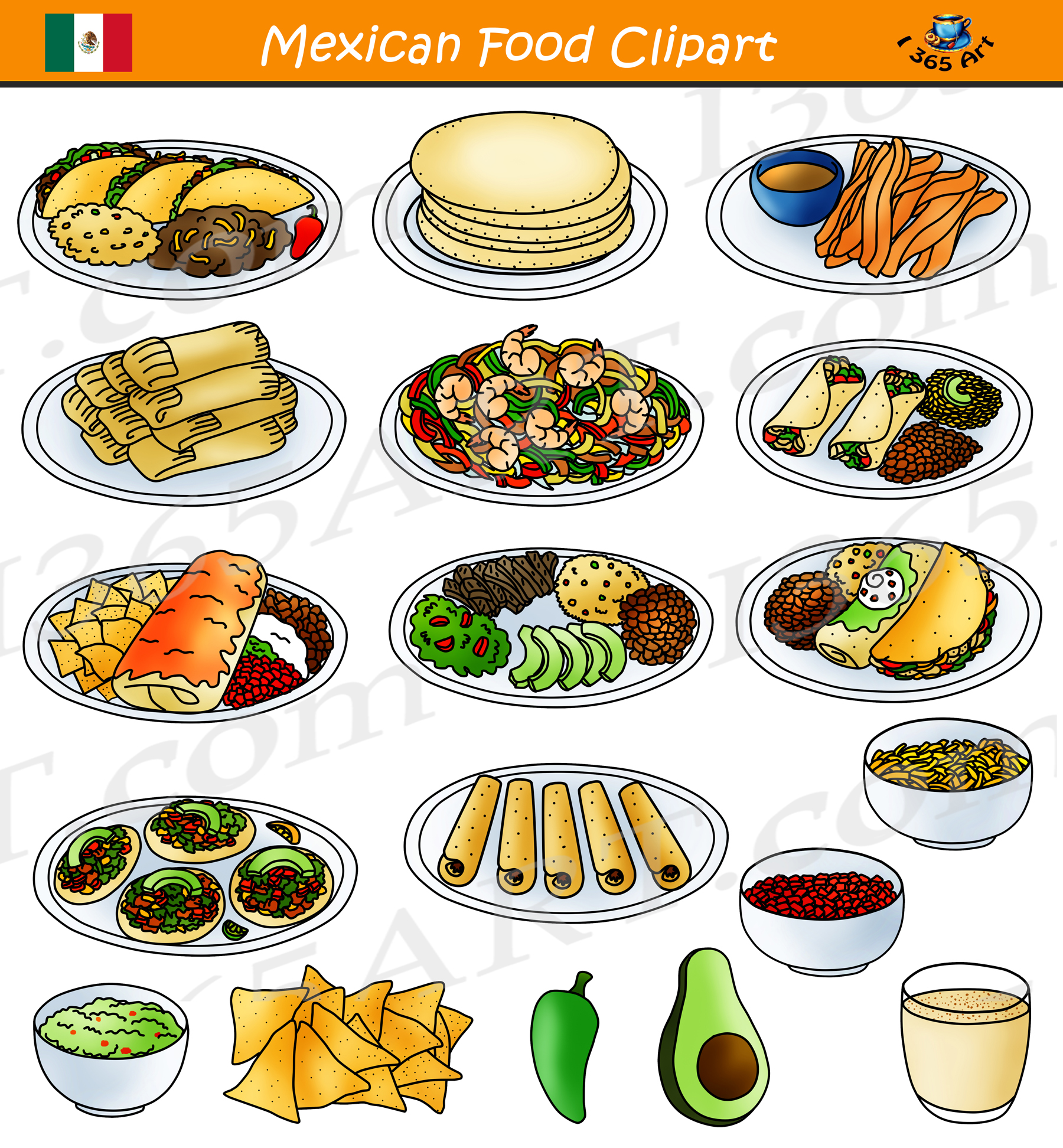 Mexican Food Clipart