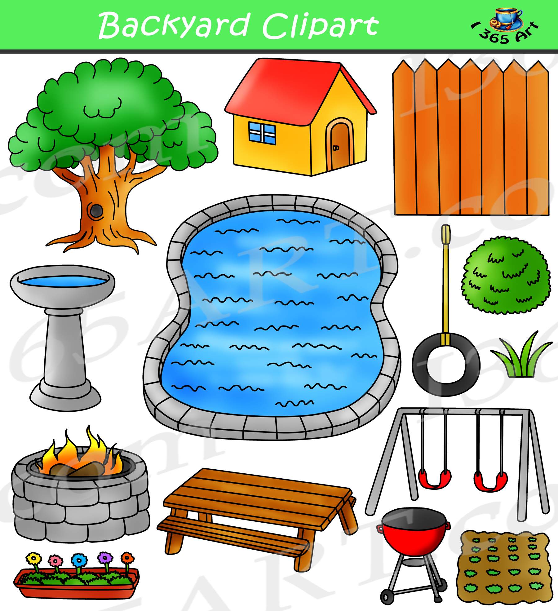 hight resolution of spring backyard clipart