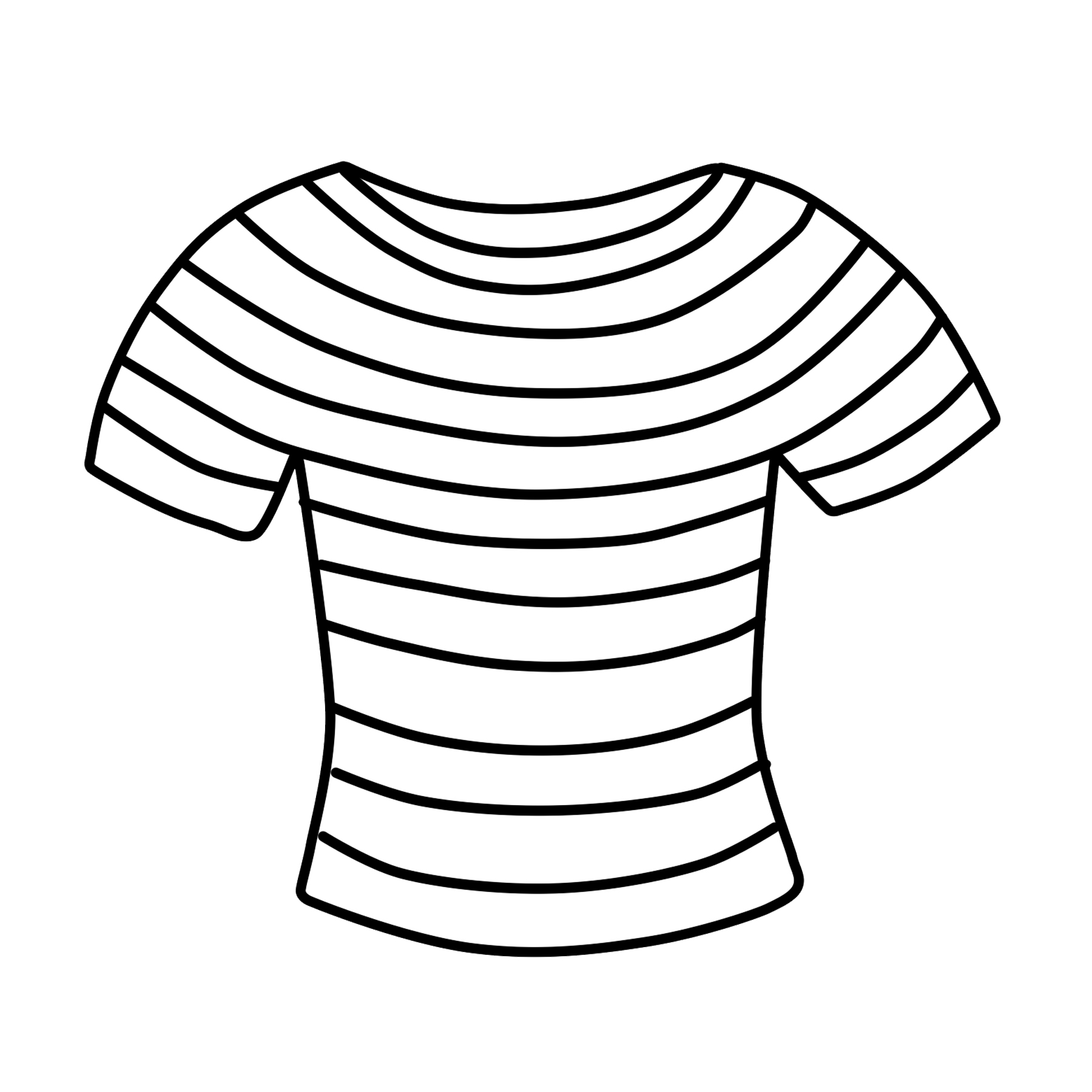 T Shirt Clipart Free Striped Shirt Clip Art Free Clipart
