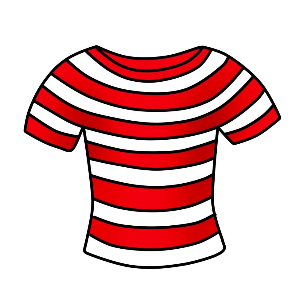 medium resolution of t shirt clipart free striped shirt clip art