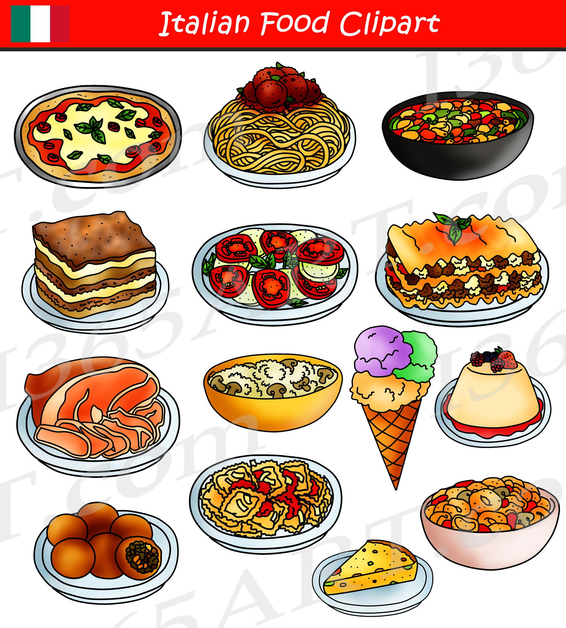 hight resolution of italian food clipart