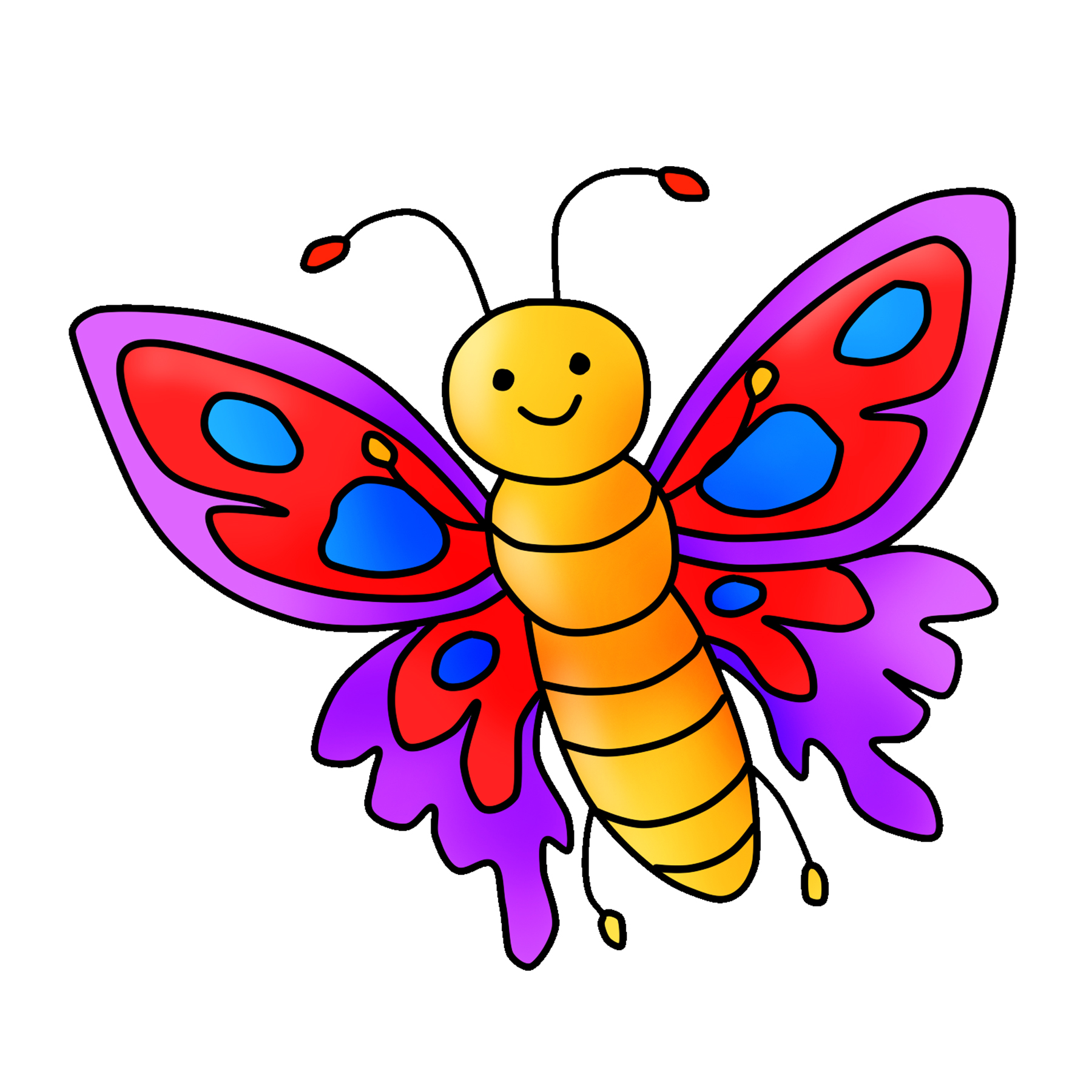hight resolution of free butterfly clipart