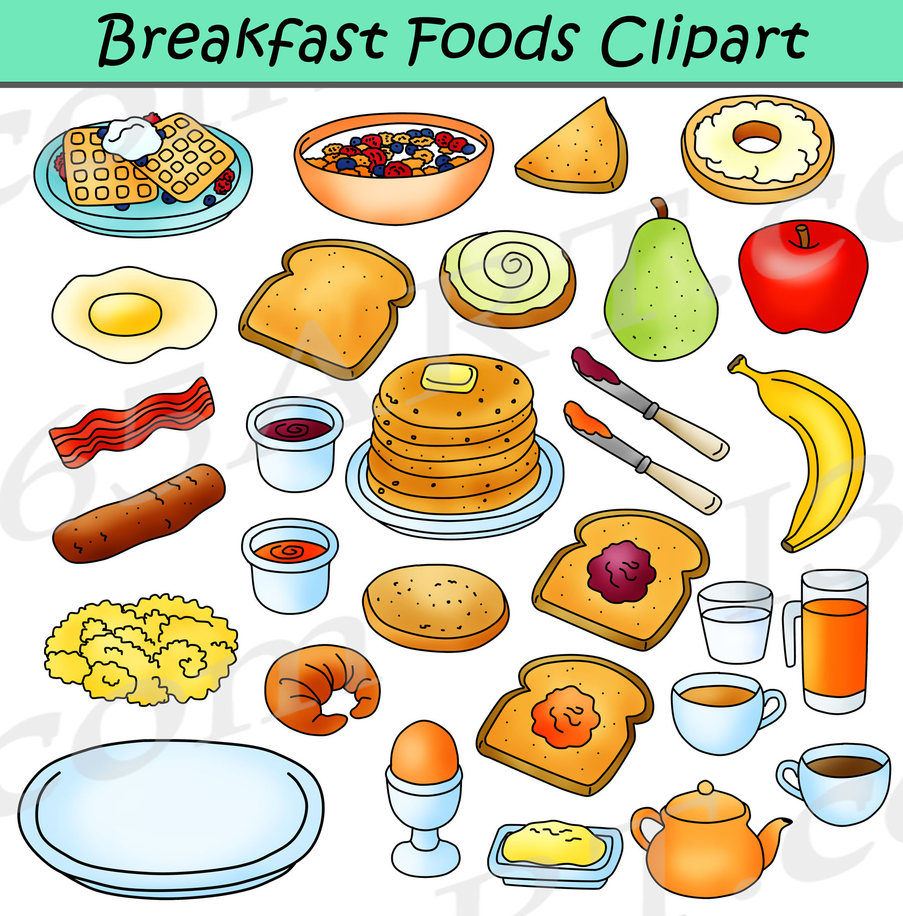 hight resolution of breakfast foods clipart bundle breakfast clipart graphics clipart 4 school