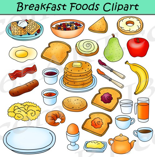 small resolution of breakfast foods clipart bundle breakfast clipart graphics clipart 4 school