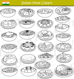 indian food clipart black and white [ 2000 x 2076 Pixel ]
