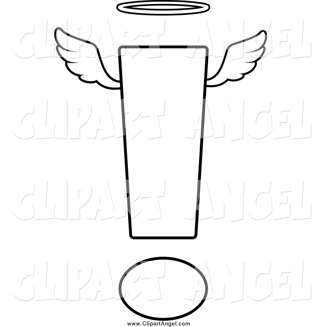 Illustration Vector Cartoon Of A Black And White Angelic