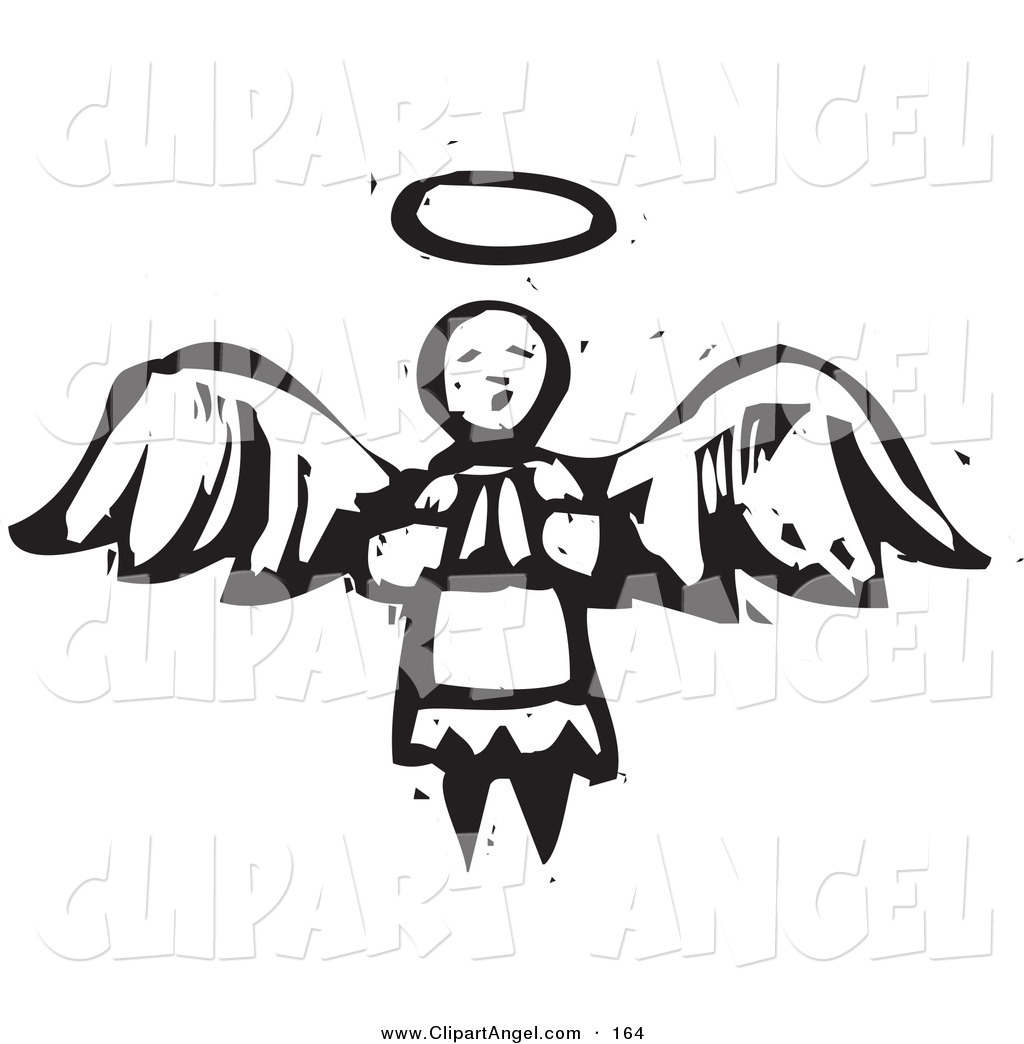 Illustration Vector Of An Black And White Carved Praying