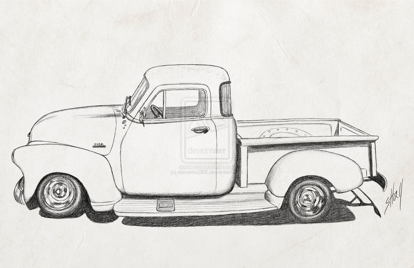 Library of 1954 chevy truck vector png files Clipart Art 2019