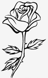 Library of free black and white rose png royalty free png