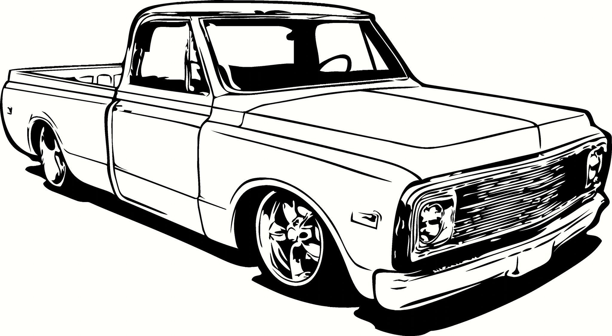Library Of 72 Chevy Pick Up Graphic Transparent Stock