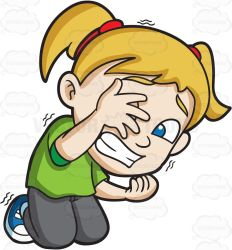 scared afraid clipart hide scary clip danger very trying cartoon boy hiding away fear herself little library untitled hiccups would