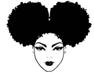 afro drawing clipart african woman face svg american queen hair princess clip silhouette nubian transparent lady female vector file cricut