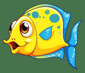 fish clipart smiling cartoon clip aquarium transparent royalty