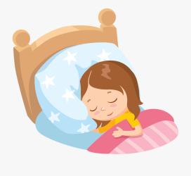 sleeping clipart child bed clip sleep cartoon baby nap background moonlight bookworm svg clipground