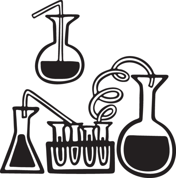 Library of beakers and test tubes clip stock png files