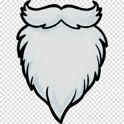 beard clipart cartoon santa claus transparent clip face library vector freeuse