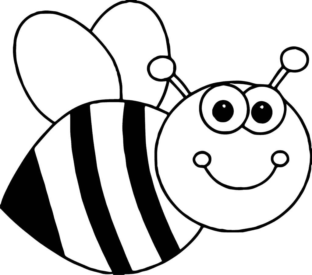 Library Of Cute Bee Picture Black And White Library Black