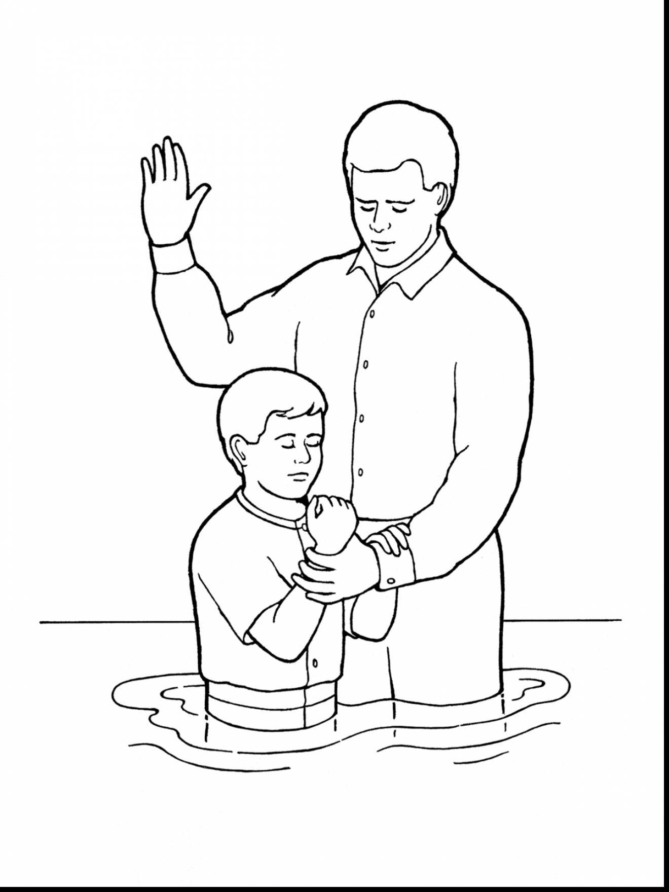 Library of black and white church young baptism lds