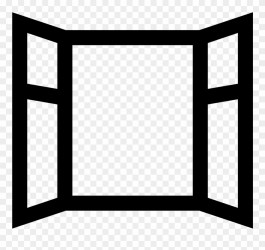 window clipart icon open library clipground