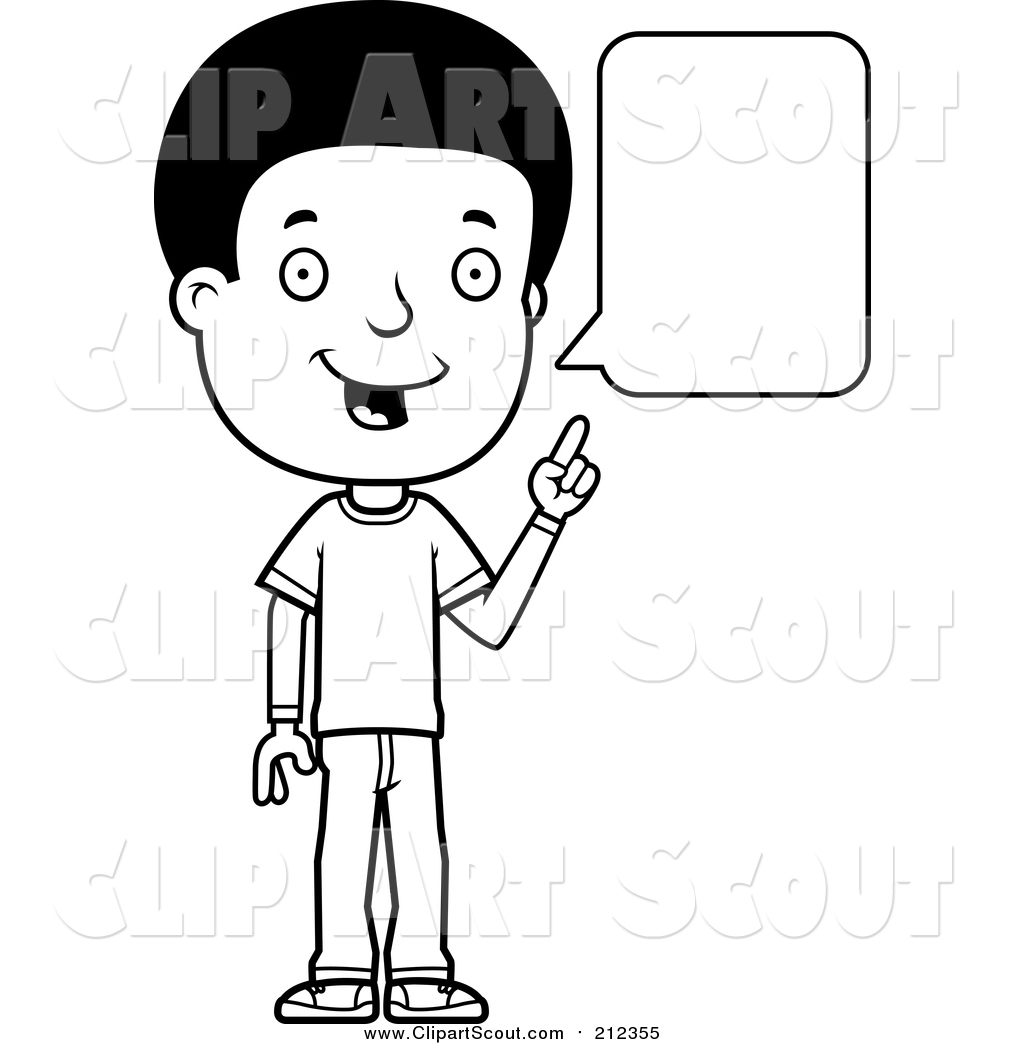 Library of talking black and white png freeuse library png
