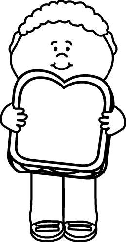 Library of boy with lunch vector transparent library black