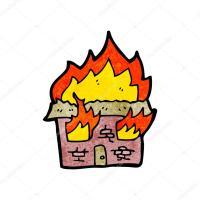 Ausmalbilder Brennendes Haus   Kinder zeichnen und ausmalen