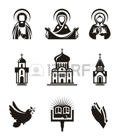 Library of catholic useable clipart black and white stock