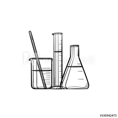 Library of chemistry beaker and test tube sillouette jpg