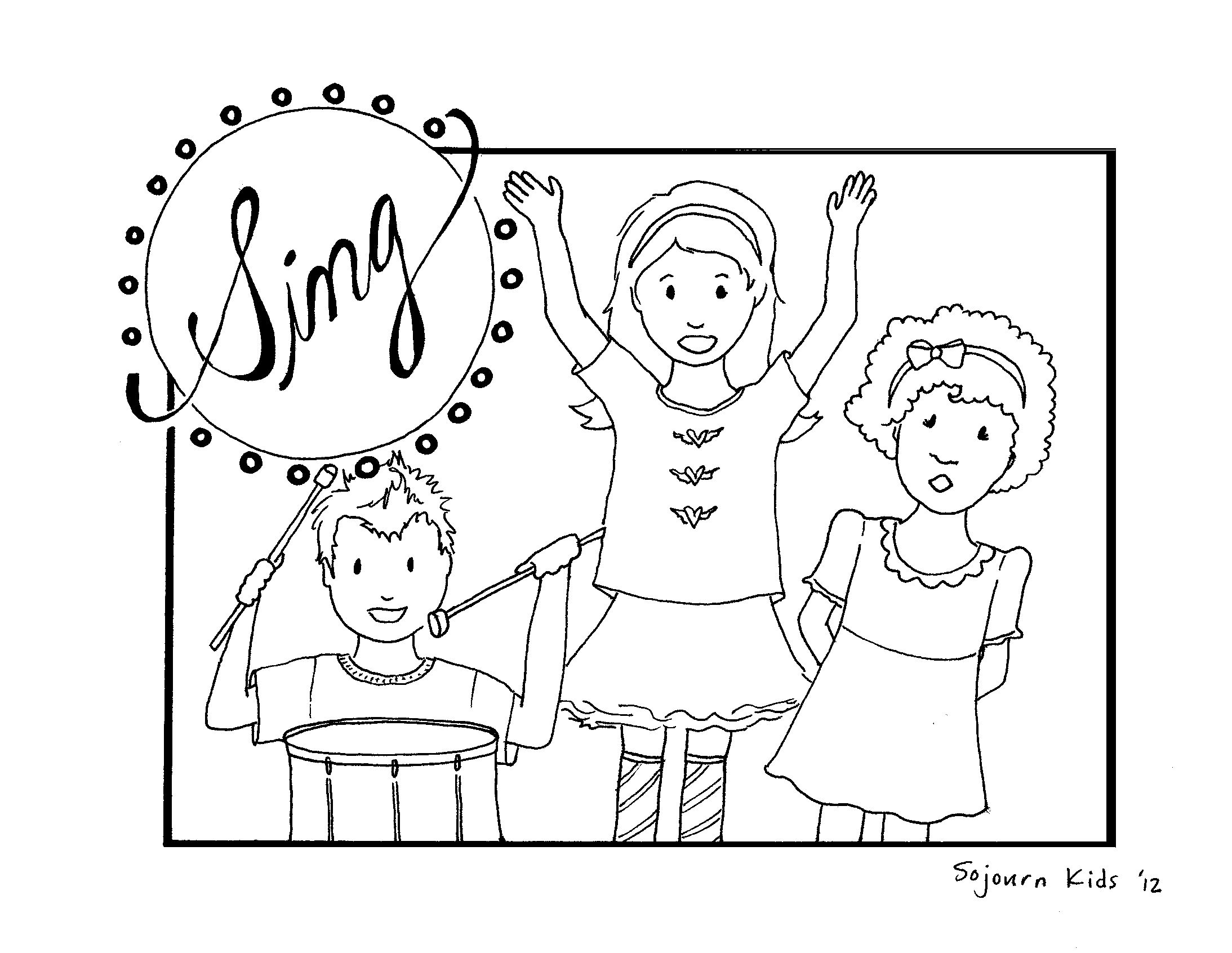 Library Of Children Praising The Lord Image Royalty Free