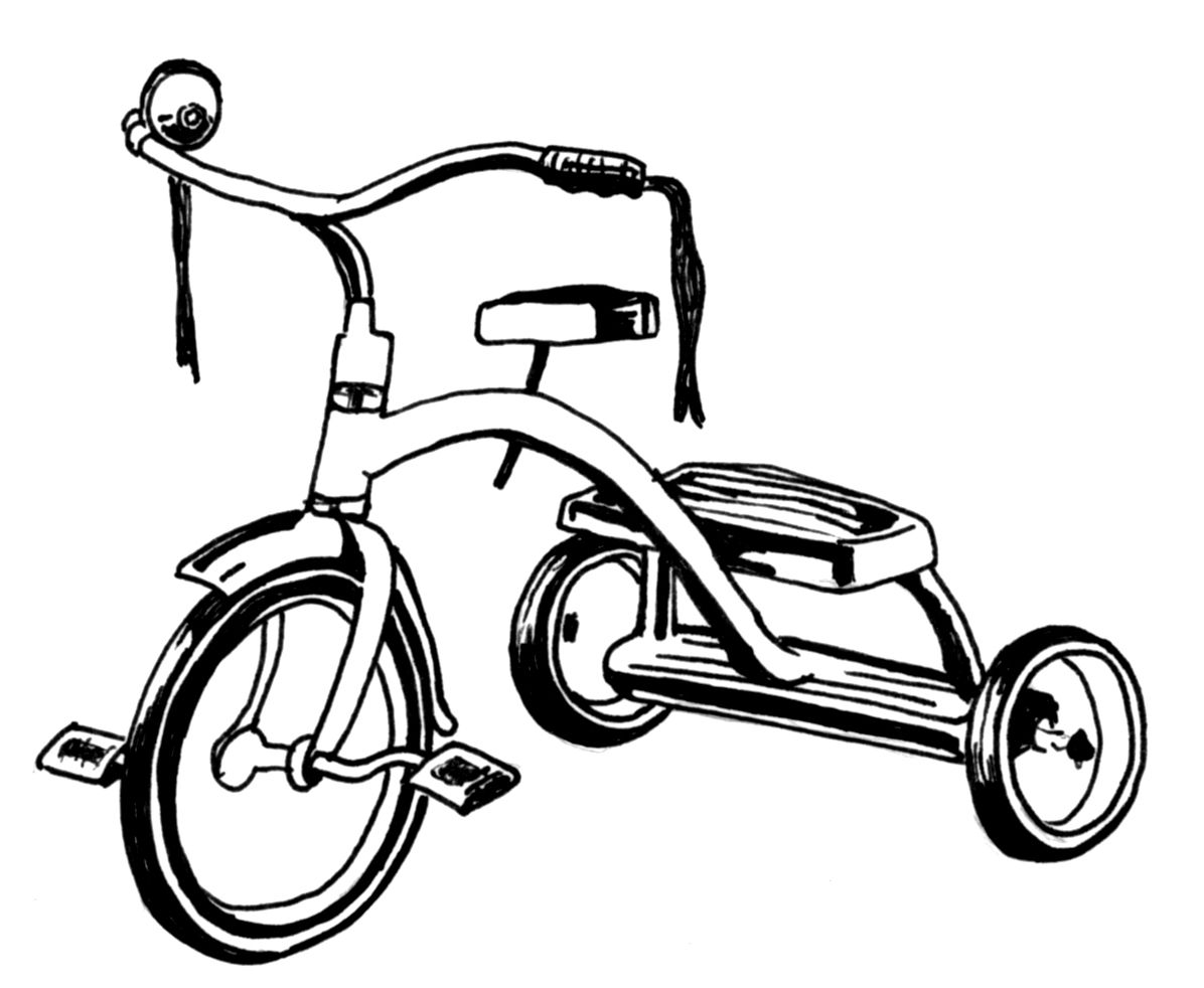 Library Of Tricycle Clip Freeuse Stock Black And White