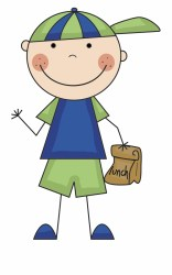 boy clipart student clip lunch lunches banner