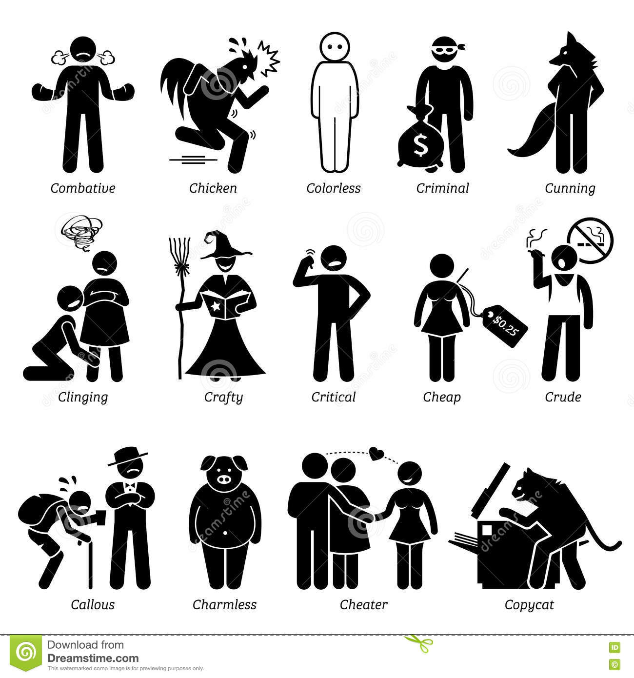 Library of picture library stock for character traits png