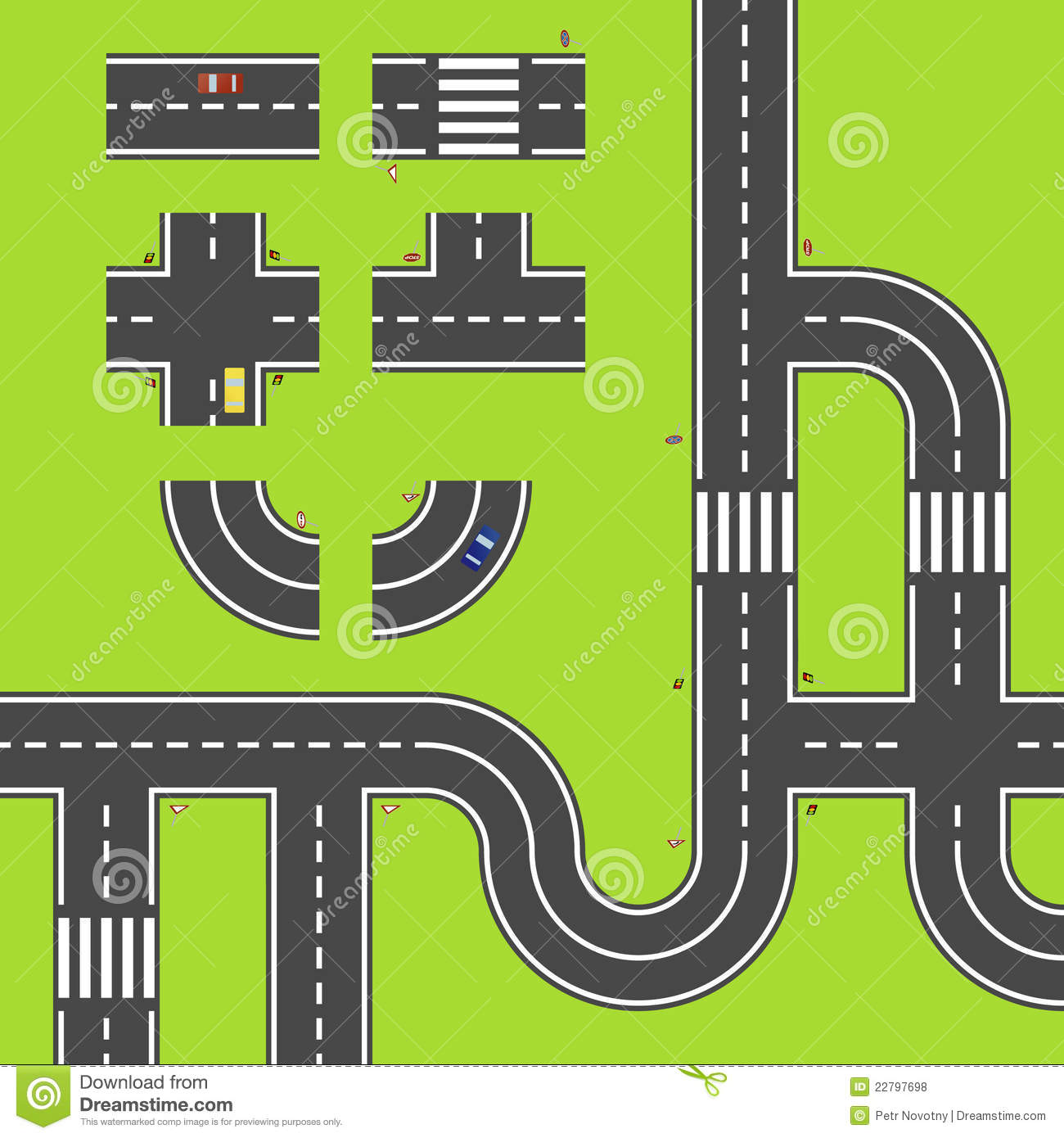 Library Of Vector Freeuse Download Road Map Files