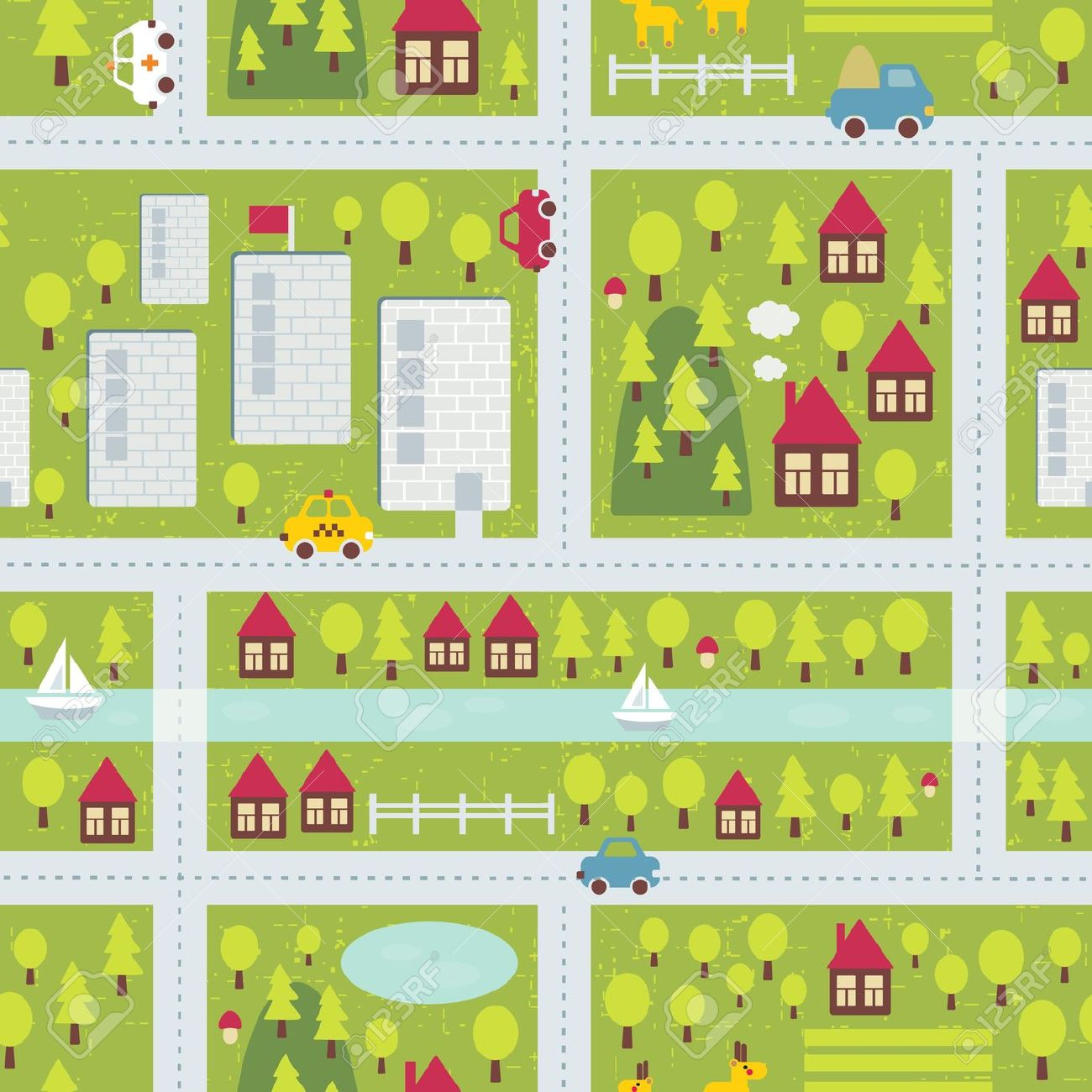 Library Of Clip Royalty Free Download Town Map Files