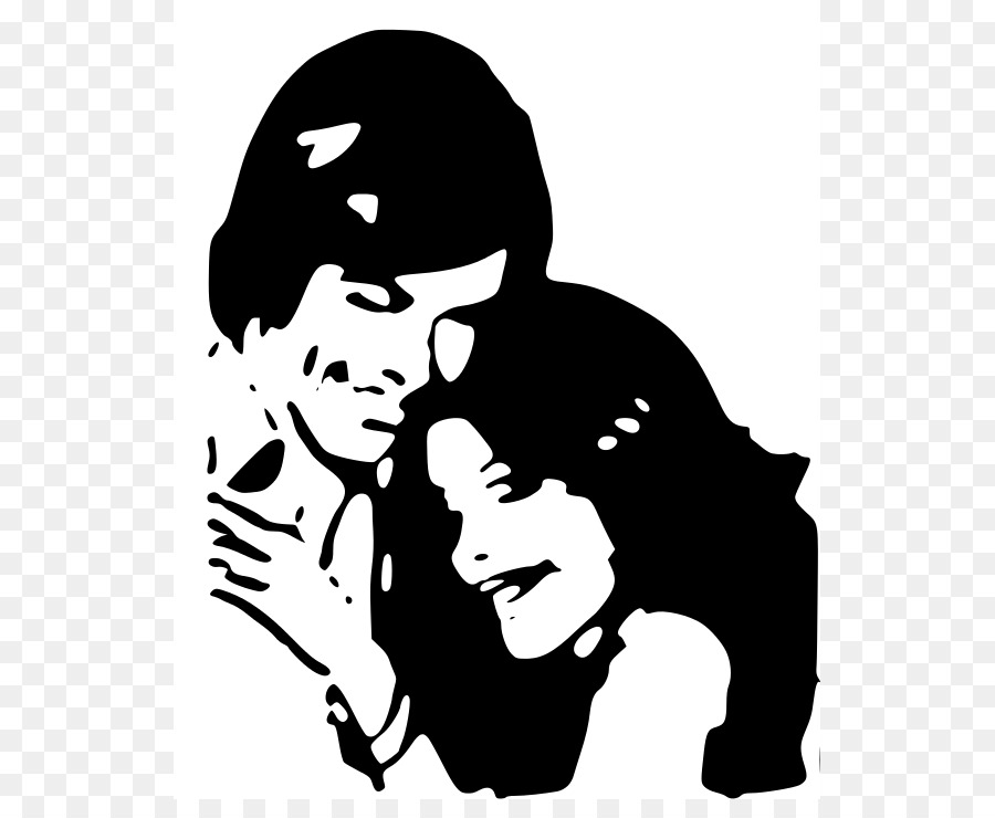 Library of hugs and kiss png freeuse library black and