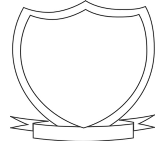Library of crest template picture stock png files Clipart