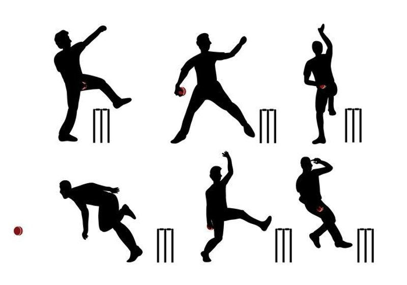 Library of cricket bowler clipart royalty free download