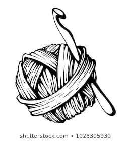 Library of crochet png black and white download black and