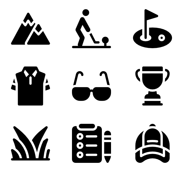 Library of cross golf clubs clipart stock png files