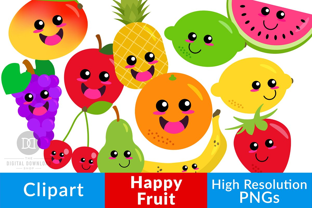 Library Of Cute Fruit Freeuse Library Files Clipart