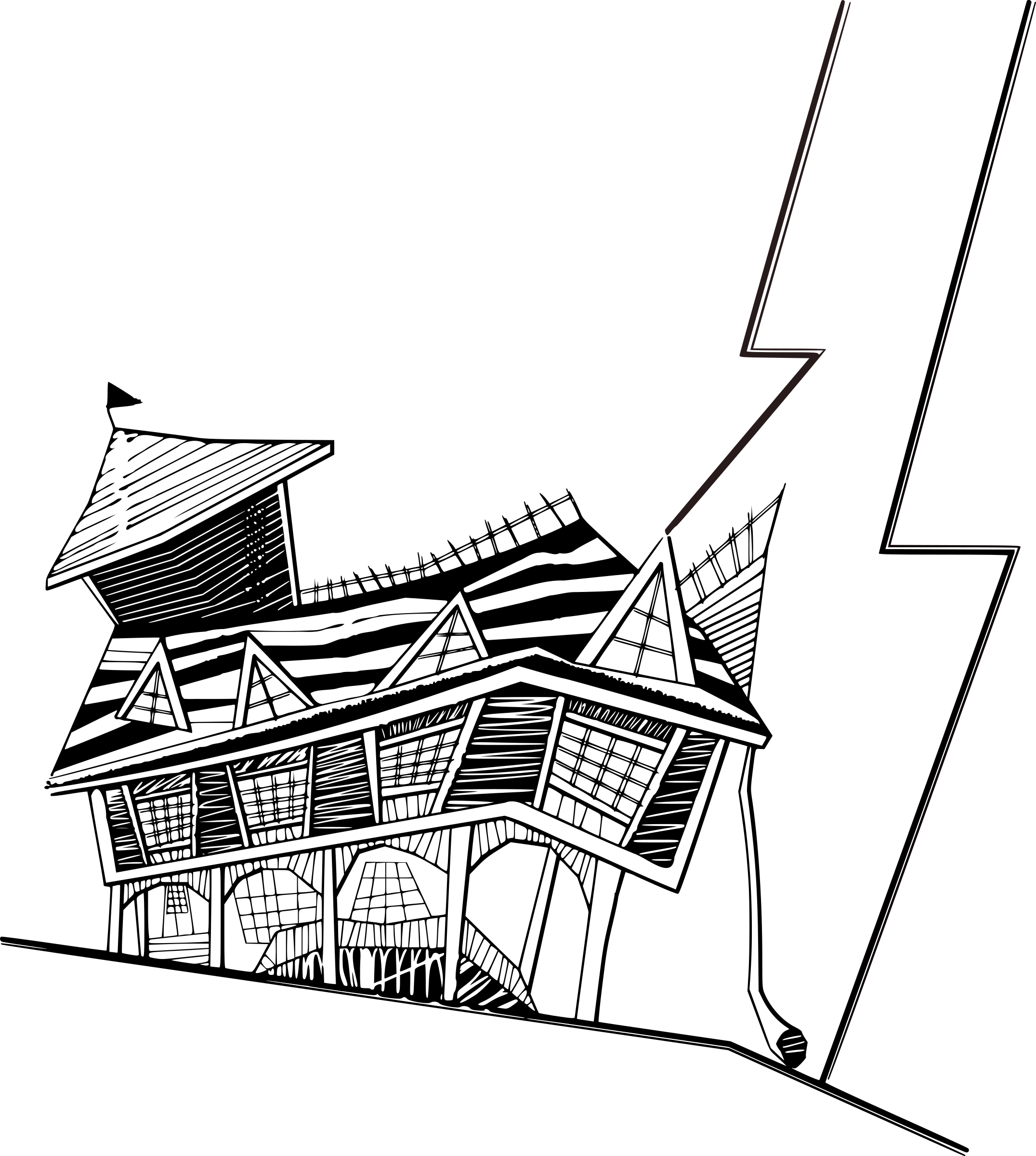 Library of house sketch clip art free png files Clipart