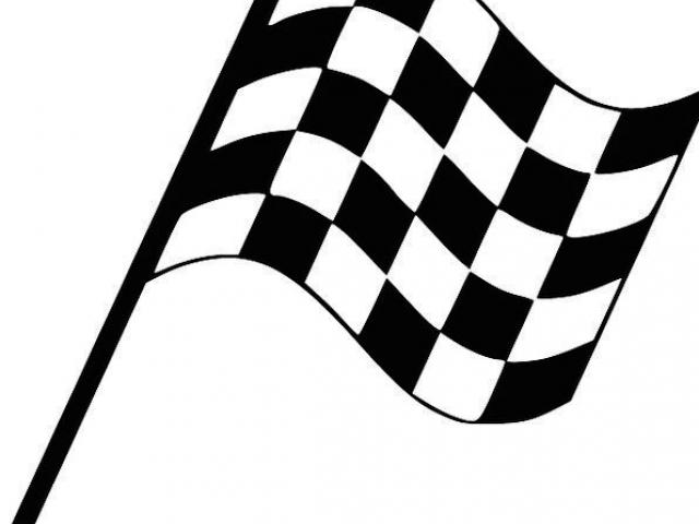 Library of finish line clip freeuse stock black and white