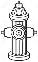 Library of fire hydrant clip free stock black and white