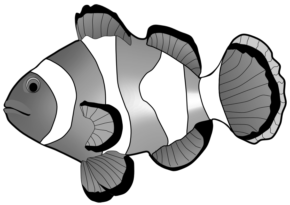 Library Of Fish Tail Clipart Library Download Black And
