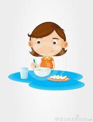 Library of girl eating breakfast clip art freeuse