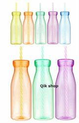milk bottle glass clipart straw shake plastic svg smoothie classic