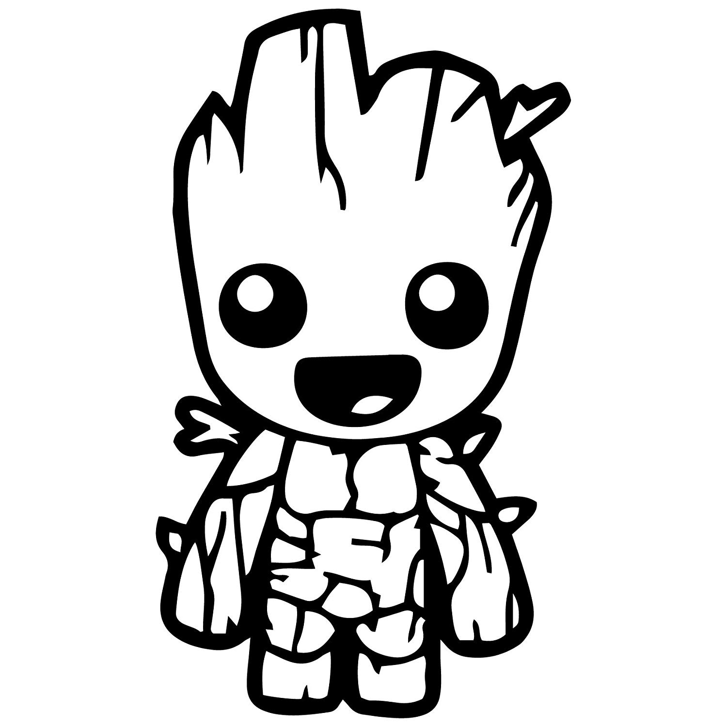 Library of guardians of the galaxy graphic black and white
