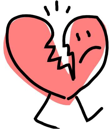 Download Library of heartbroken clip art black and white stock png ...