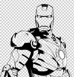 iron line clipart drawing america captain marvel ironman svg clip comic arm clipground pngio